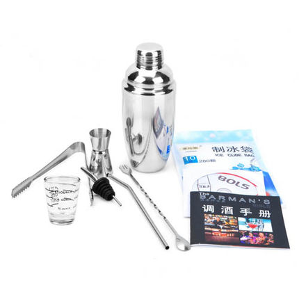 Activated imported thick stainless steel cocktail shaker cocktail shaker cocktail shaker 10 sets set kit putanesca tools