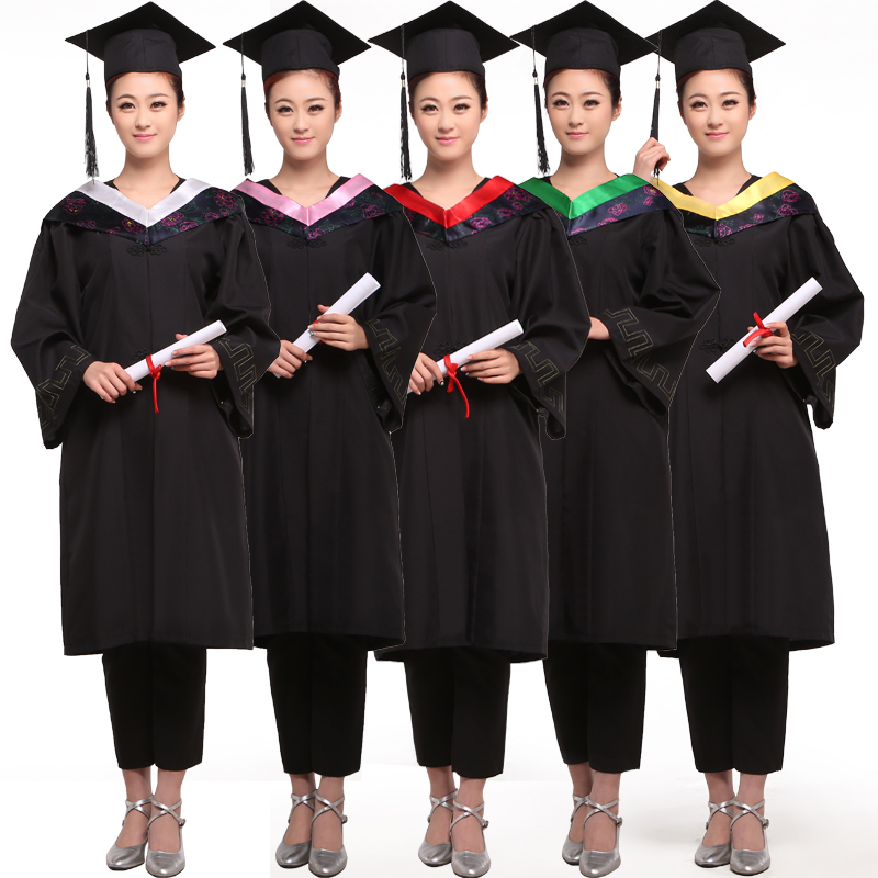 Adult college students graduation photo dr. clothing dr. clothing bachelor of workers and medical students graduation dress