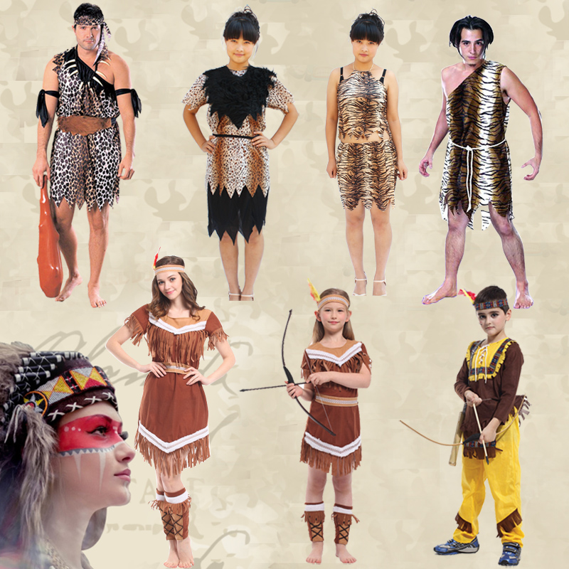 Adult halloween costume savage indian costume cos masquerade costumes children's clothing paternity suit