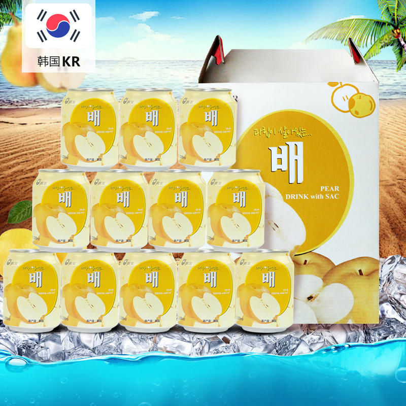 [Advent special] south korea imported brand nine days pear pulp juice drinks wholesale fcl 238 ml * 12