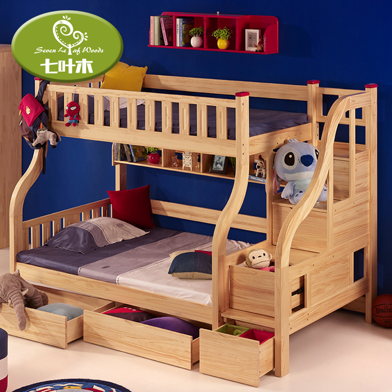 Aescinate wood picture bed bed bunk bed children bed bunk bed bunk bed combination of children's beds pine male child girls