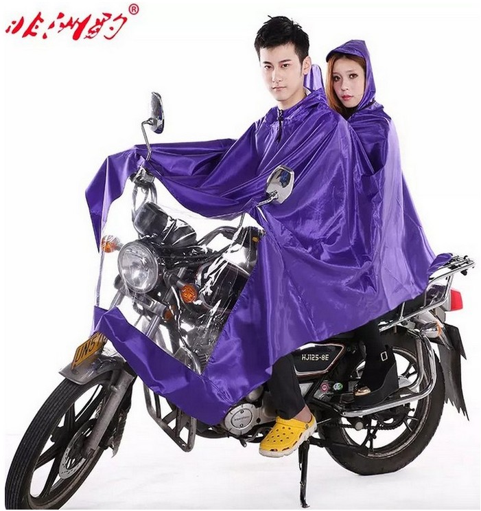 African leopard motorcycle electric car raincoat raincoat raincoat single or double adult lengthened thick big hat for men and women poncho shipping