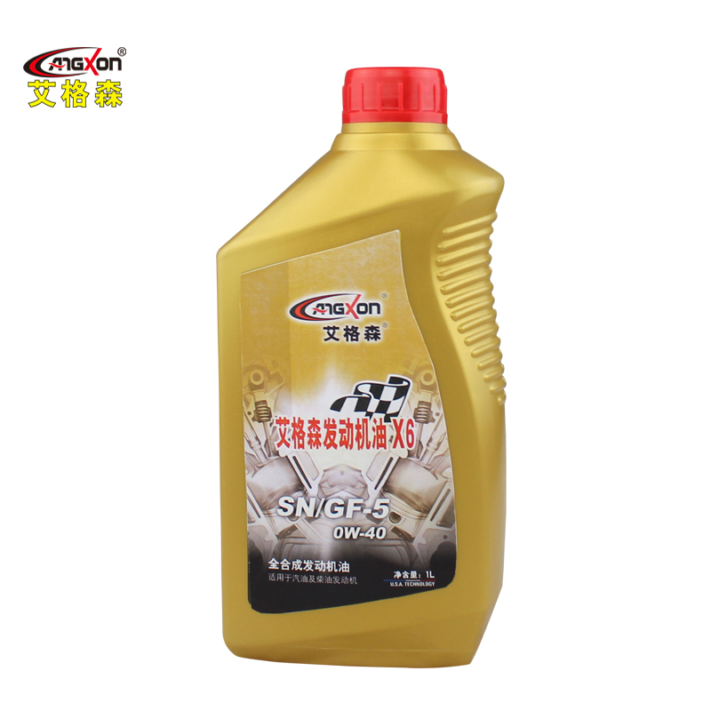 Ai gesen angxon fully synthetic car engine oil sn/gf-5 0w-40 fully synthetic lubricants 1l