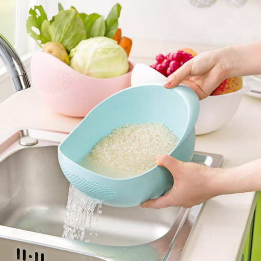 Ai shang simei thick kitchen wash rice is rice washing sieve wash rice pots plastic drain vegetables basket basket wash rice bowl