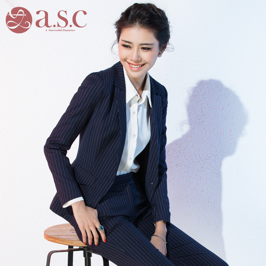 Ai shangchen 2015 autumn wear suits dress suit overalls spring and autumn women new autumn fashion career
