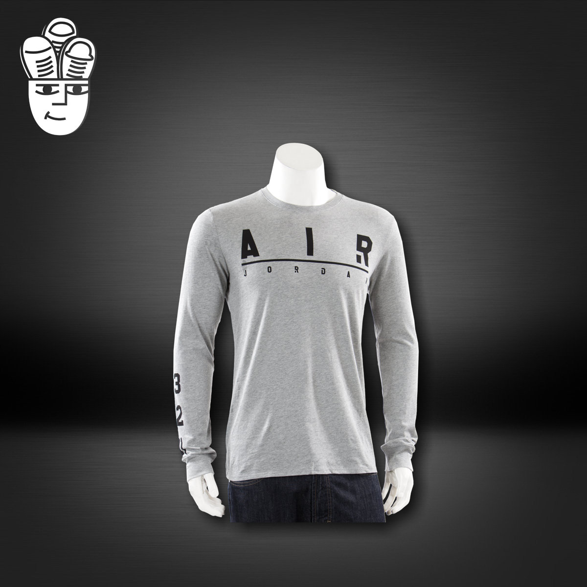 Air jordan a. i. r jordan l/s t-shirt aj men's fashion logo long sleeve t-shirt