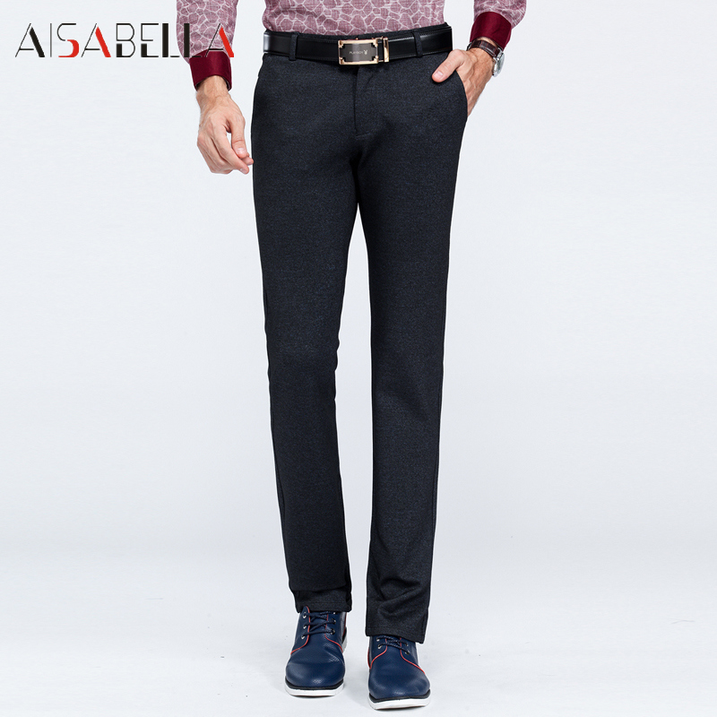 Aisabella 2016 spring and autumn new fashion business casual trousers men's casual pants in the years rimulaå·71 paragraph paragraph