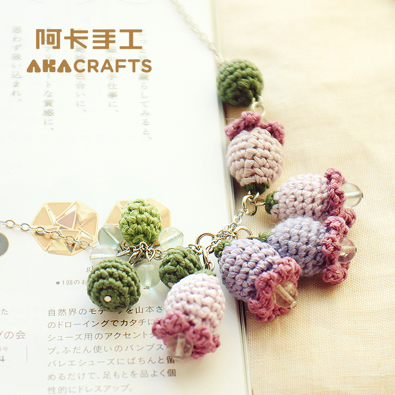 Aka diy handmade crochet knit sweater chain necklace diy wool crochet graphic tutorials video material package