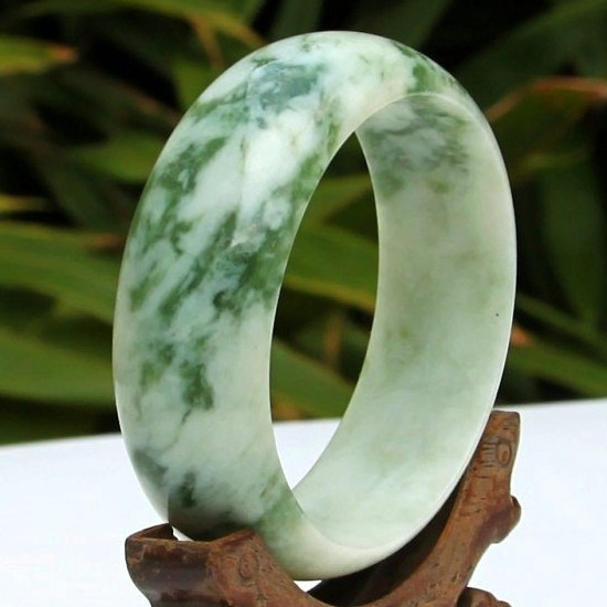 Albatron hin natural jade bracelet lantian jade bracelet emerald green and white jade bracelets jewelry bracelet female models widen 23