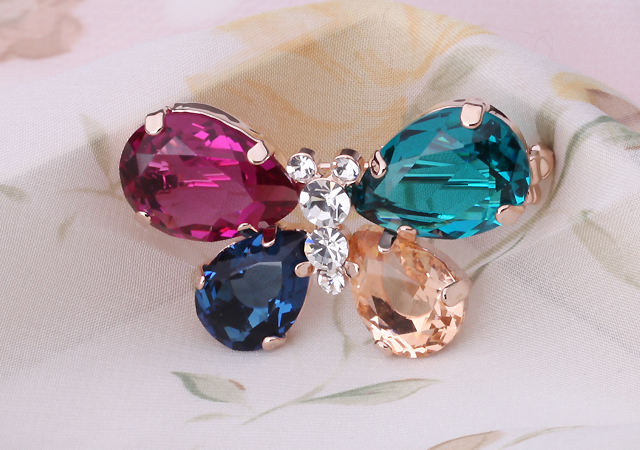 Albemarle jewelry crystal butterfly brooch fashion brooch pin buckle harionago