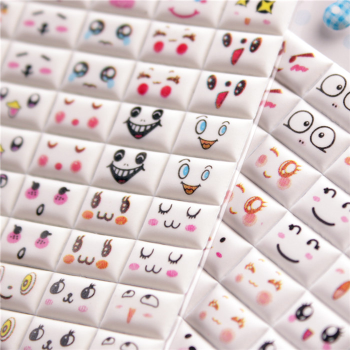 Album album diy decorative material cute face + alphanumeric stickers sponge bubble stickers korean version of the creative