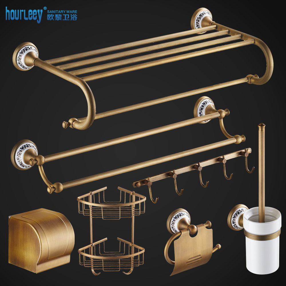 All copper antique vintage towel rack towel rack continental shelf bathroom accessories bathroom hardware accessories kit