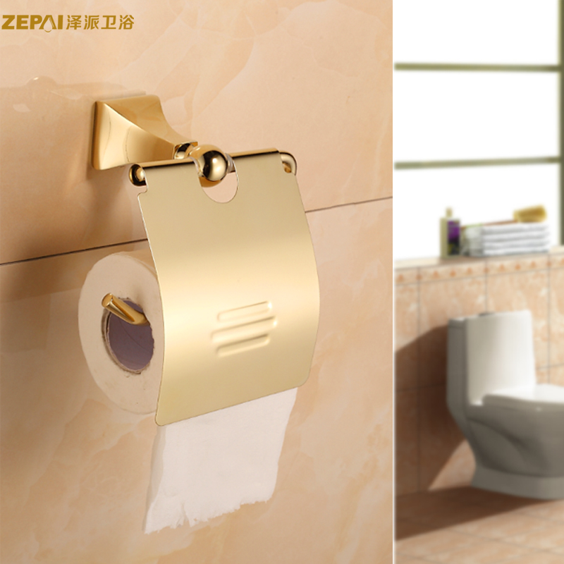 All copper continental antique gold towel rack toilet paper holder toilet roll paper cassette toilet tissue box tissue box of toilet paper