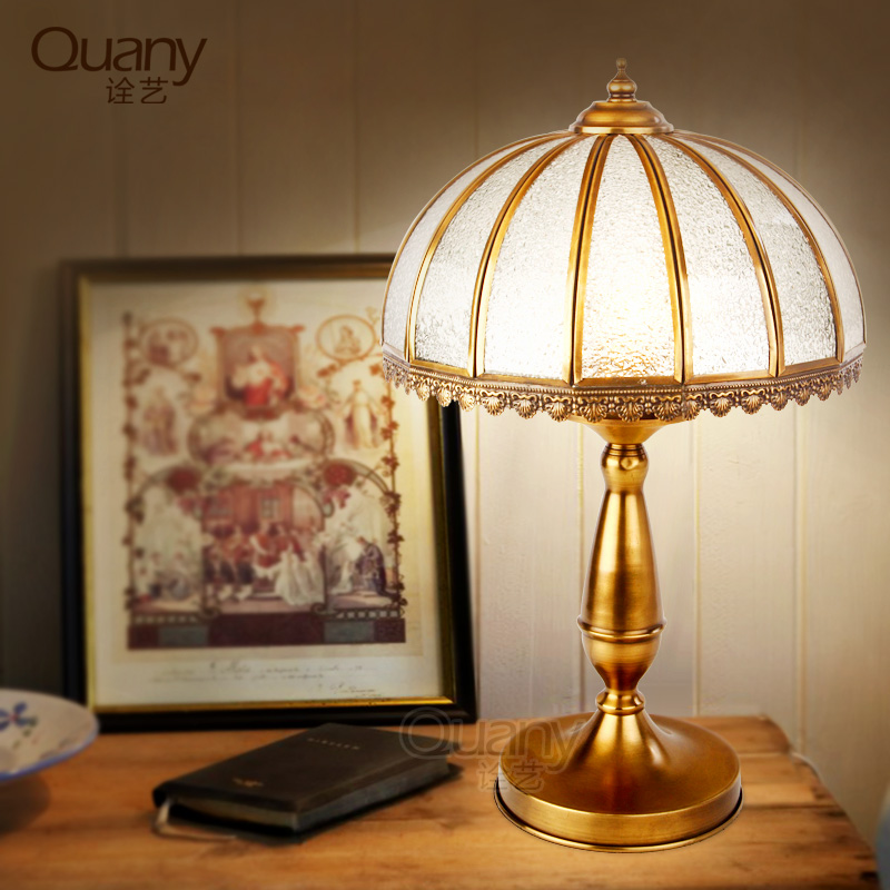 All copper continental bedside lamp bedroom den living room full copper table lamp american continental copper lamp table lamp neoclassical