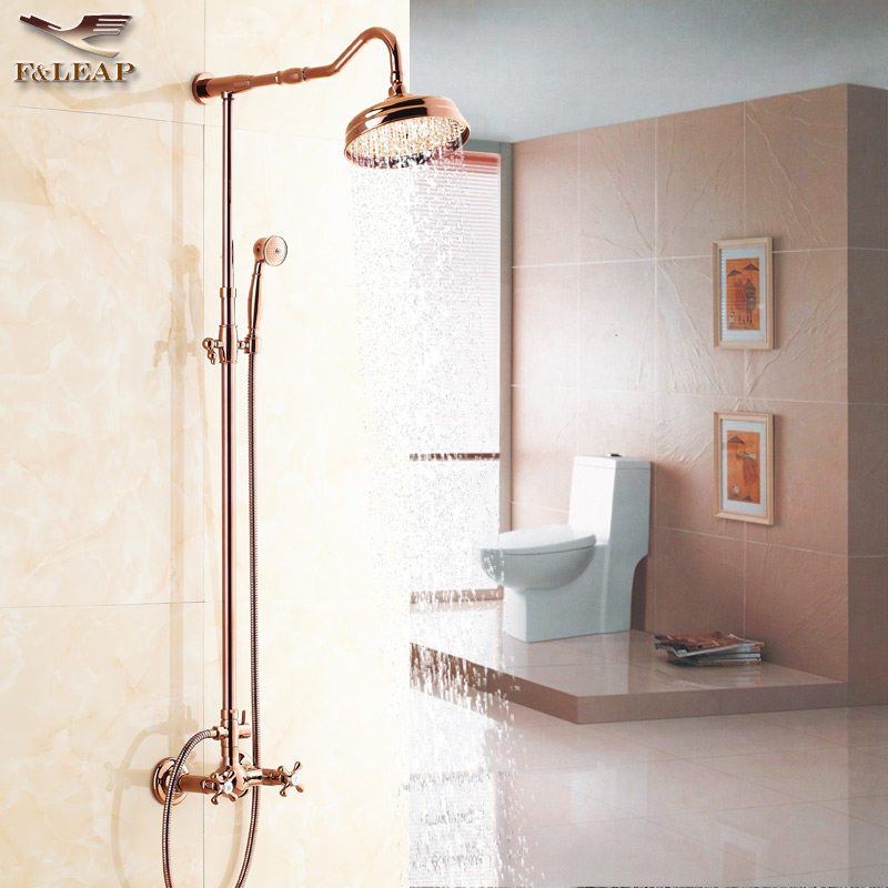 All copper rose gold golden shower shower shower suite shower continental antique faucet shower
