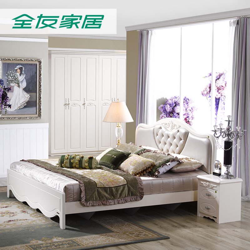 All friends of the furniture continental bed double french bed marriage bed + bedside cabinet + mattress + wardrobe ensemble 120608