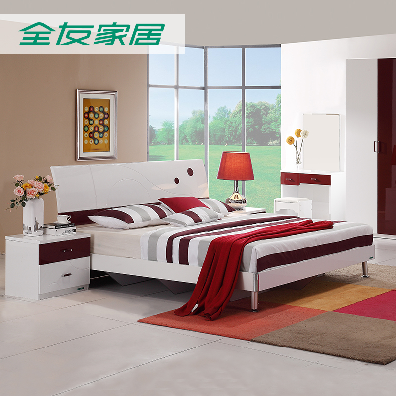 All friends of the furniture modern minimalist bedroom furniture double bed family of four mattress combination package 78607
