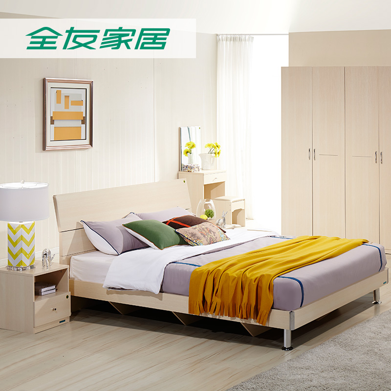 All friends of the genuine home bedroom furniture sets wujiantao + tv cabinet + coffee table + restaurant qijian tao specials