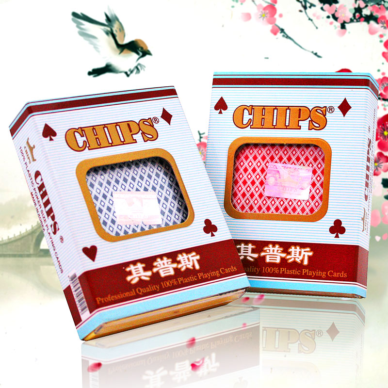 All plastic cards plastic poker chips imported from korea its兰普斯