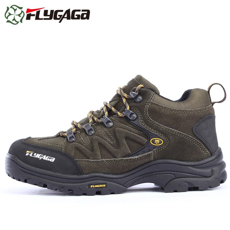 Allison fly autumn and winter high to help outdoor shoes breathable waterproof hiking shoes hiking shoes men shoes authentic sports shoes