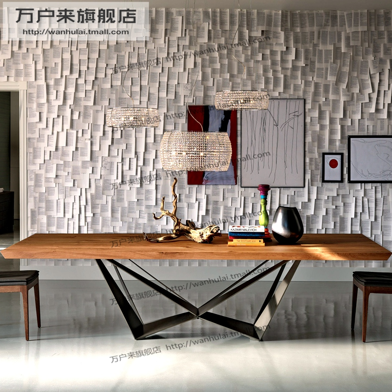 American creative wood hotel long table conference table boss desk desk desk desk computer desk minimalist modern personality