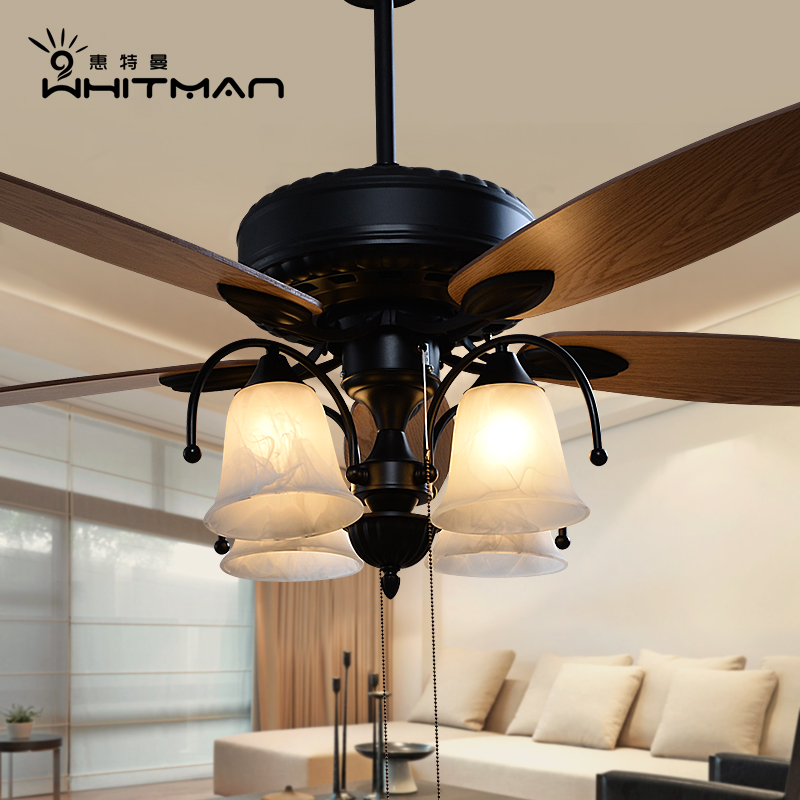 American european retro living room dining fan lights ceiling fan light minimalist home electric fan fan chandelier lamp bedroom