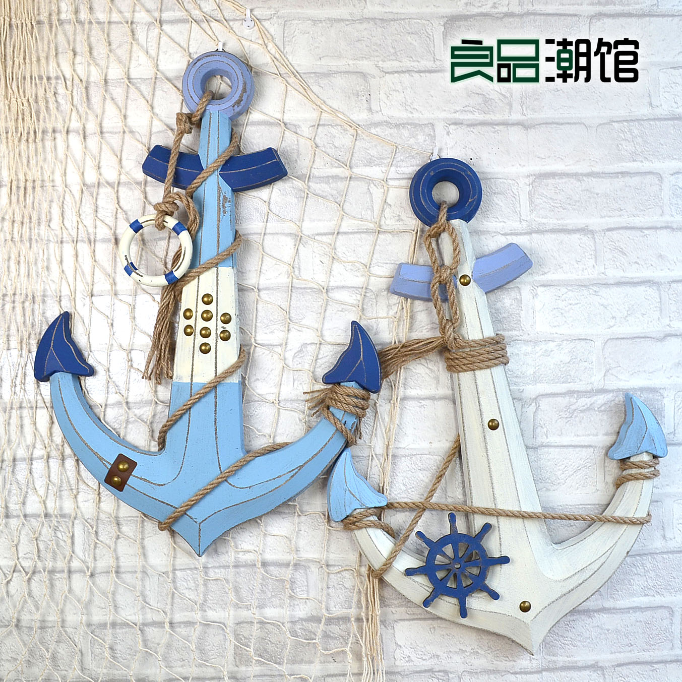 American mediterranean woodiness dress sea anchor jewelry at home decorative wall hangings creative home furnishings shop decoration