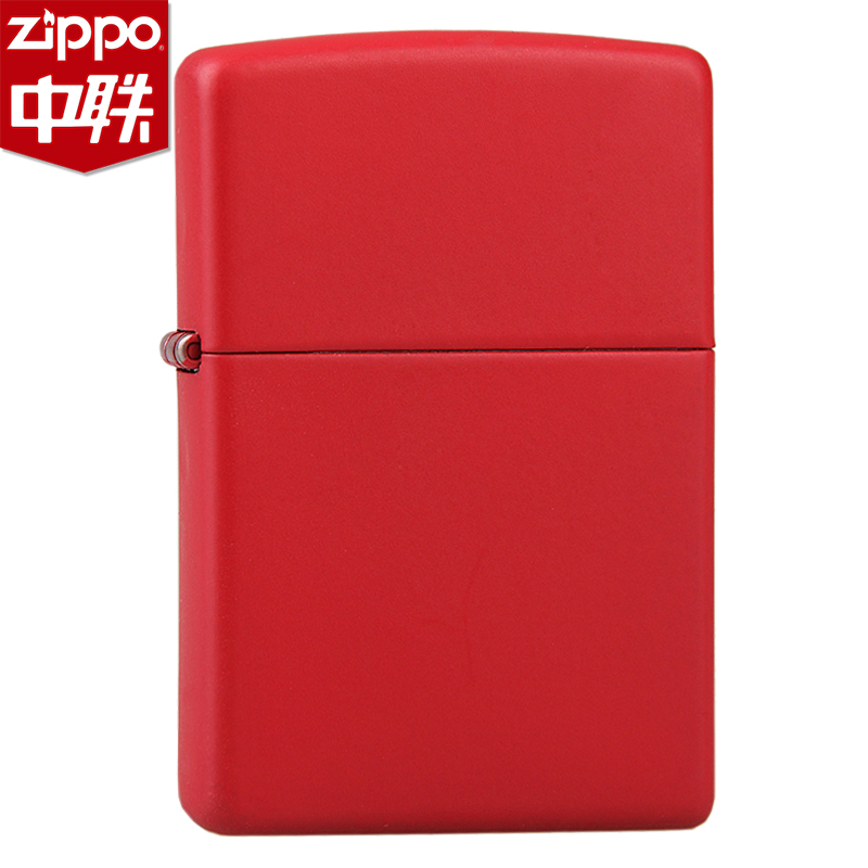 American original authentic 233 red matte paint counter genuine zippo lighter lettering zppo genuine flagship store