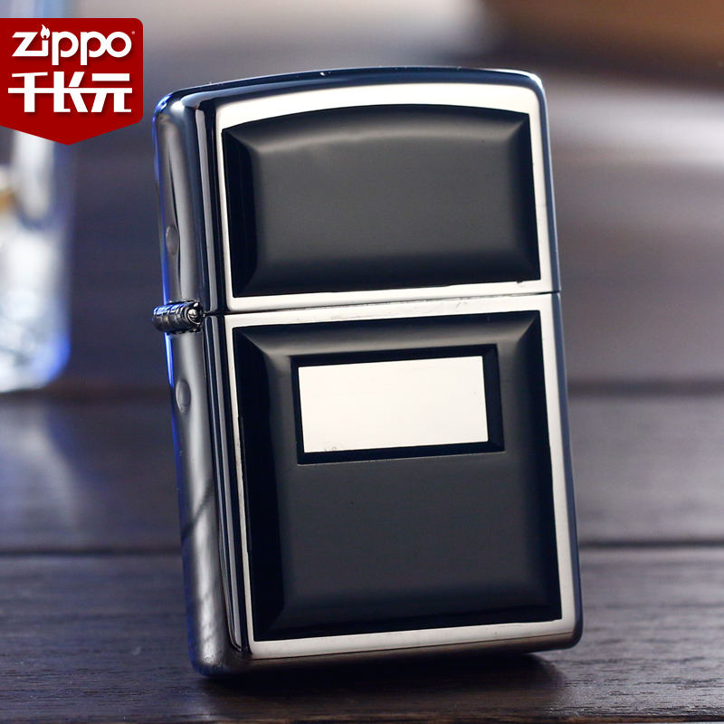 American original authentic genuine zippo lighter classic chrome mirror stickers chapter badge black ascot 355