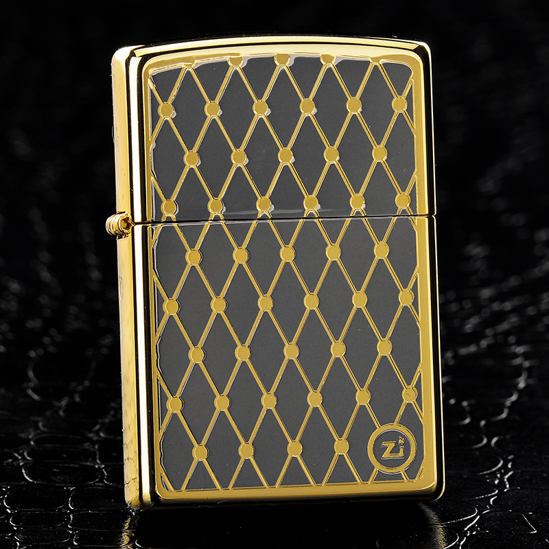 American original genuine zippo genuine zippo windproof lighter limited edition collection gold plated diamond mesh