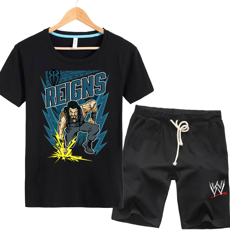 American professional wrestling randy orton románé·æ©æ¯brock men short sleeve t-shirt suit xl summer day