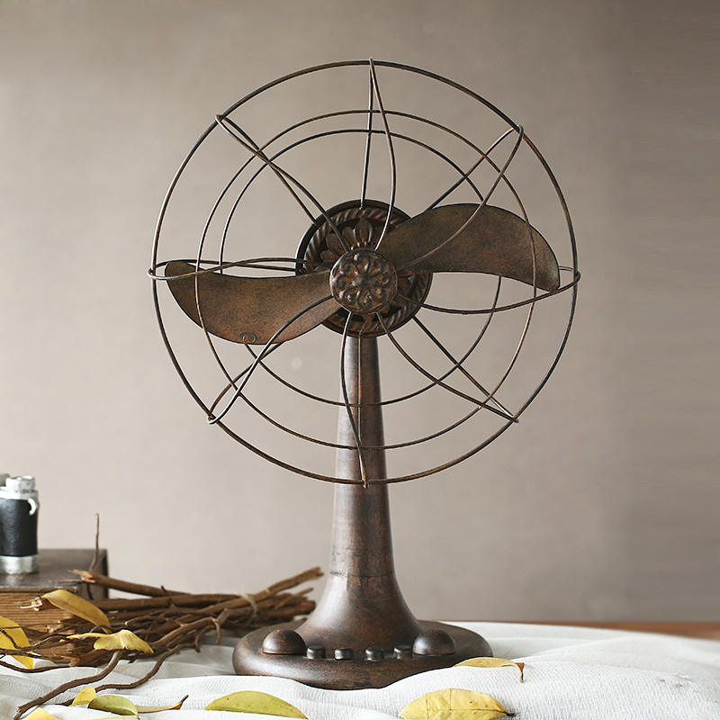 American retro fan model room den office decoration designers off mysterious creative display decorations
