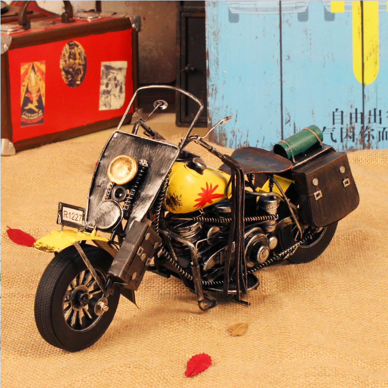 American vintage motorcycle model cafe ornaments bookcase ornaments window display props studio pictures