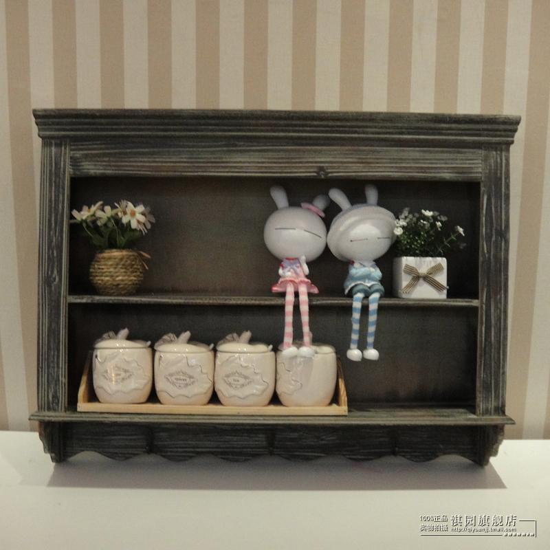 American vintage wood cabinets wall cabinet wall shelf creative wall shelf pastoral storage cabinets