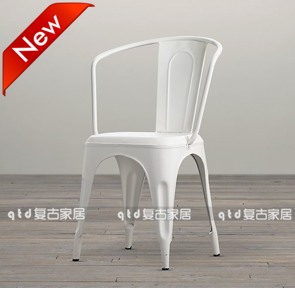 Get Quotations · American Vintage Wrought Iron Loft Industrial Metal Dining  Chair Dining Chairs Cafe Chairs Casual Dining Table