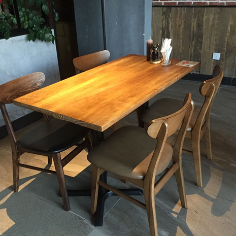 American vintage wrought iron wood dining table tea bar tea shop fast food restaurant bar cafe tables and chairs dining chairs