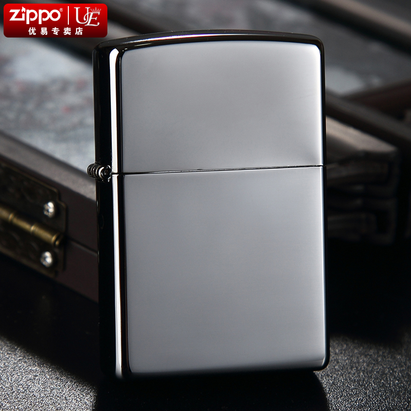 American zippo windproof lighter zippo 150 black ice mirror lettering lighter official authorized oil