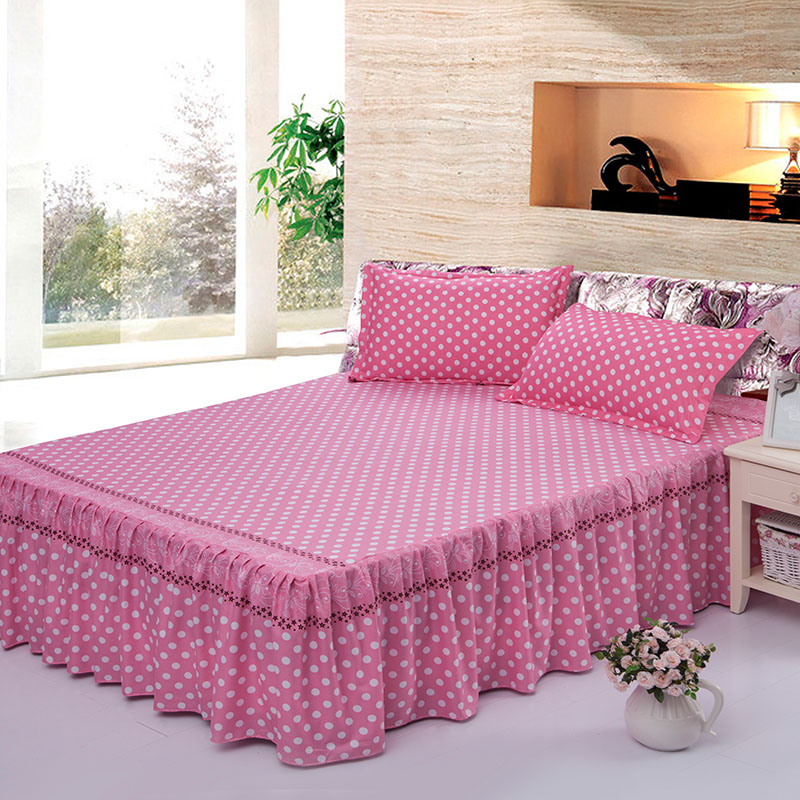 Amoy originated from a single piece of a single product upgrade dreams bed skirt pink dot slip princess wedding bedding single bed skirt