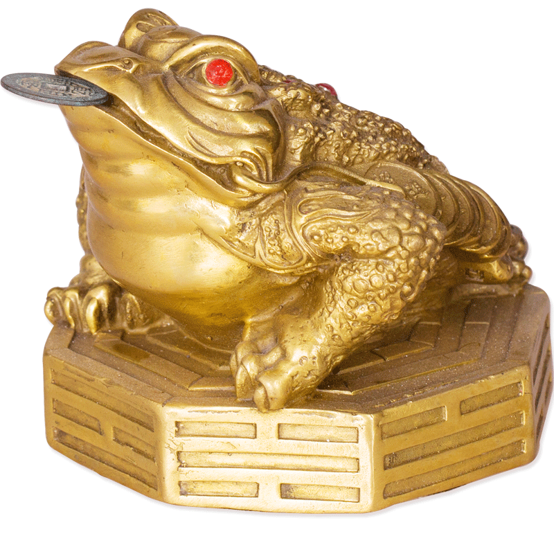 Amoy shipped court opening nine turn of fortune gossip copper bronze ornaments horned toad toad feng shui home feng shui thing