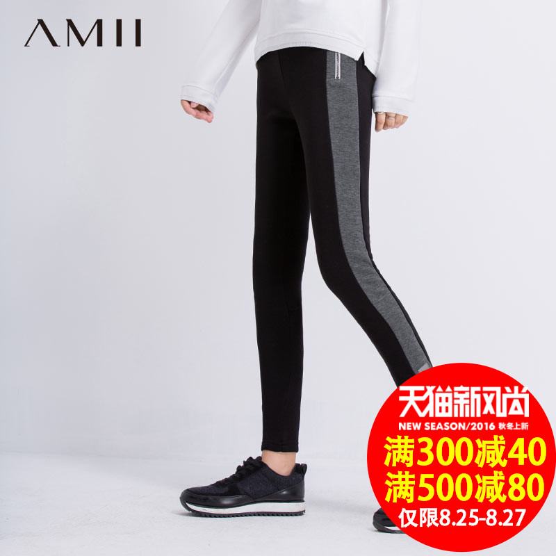 Amy amii and jane 2015 new autumn and winter large size women slim spell color plus velvet paul warm leggings big yards female
