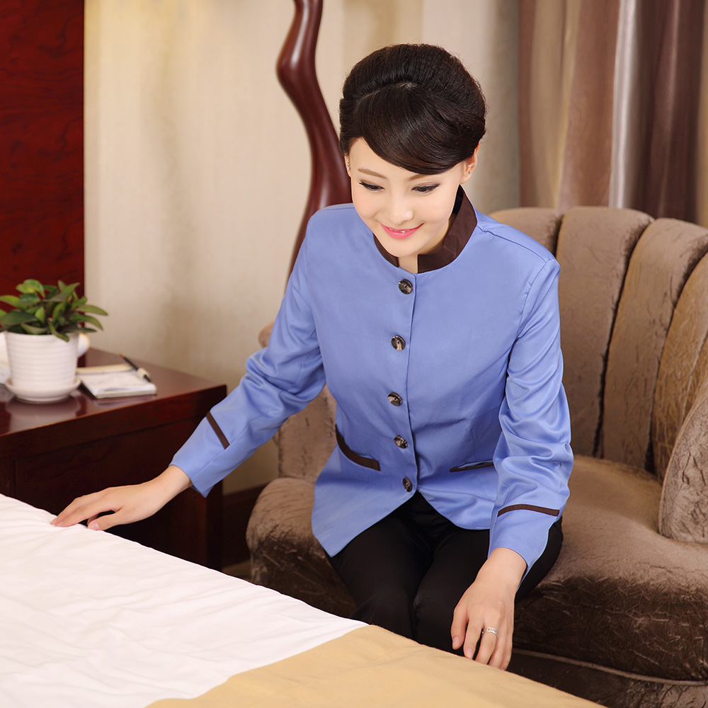 Amy xin think cleaning clothes long sleeve fall and winter clothes female hotel uniforms pa hotel room cleaning staff cleaning uniforms