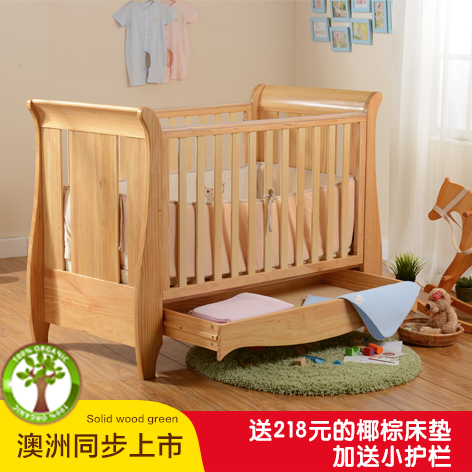 An furui hercribon upscale european wood crib baby bed bb european export quality multifunction crib