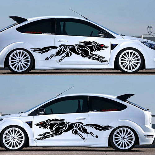 An upgraded version of the wolf wolf totem whole car decals car stickers car stickers full body garland personalized stickers
