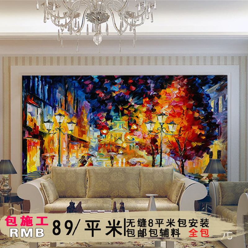 Ancient painting ellen european retro nostalgia wood personalized large mural living room book room tv backdrop wallpaper