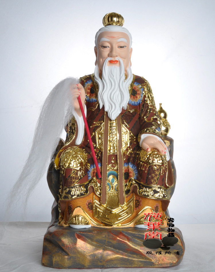 Ancient tang choi painted reniforme psychic xianjia see things taibaijinxing resin statues of taoist gods ornaments