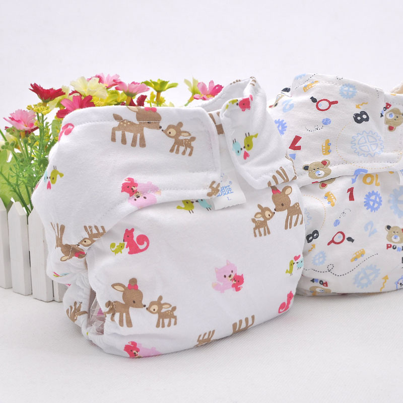 Angel baby baby waterproof breathable cotton baby diapers pocket cloth diapers diaper pants every diaper leak