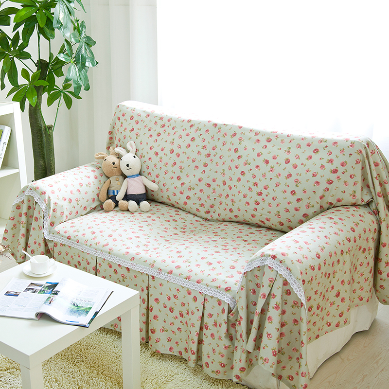 Get Quotations · Angel Ya Children Sand Wash Cotton Towel Sofa Sofa Cover  Cloth British Pastoral Style Floral Small