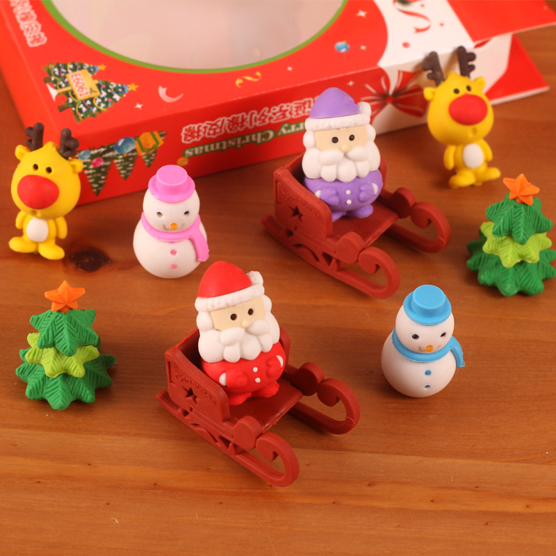 Angel zimu cute stationery boxed christmas christmas gift stationery eraser rubber eraser cartoon cute delicate