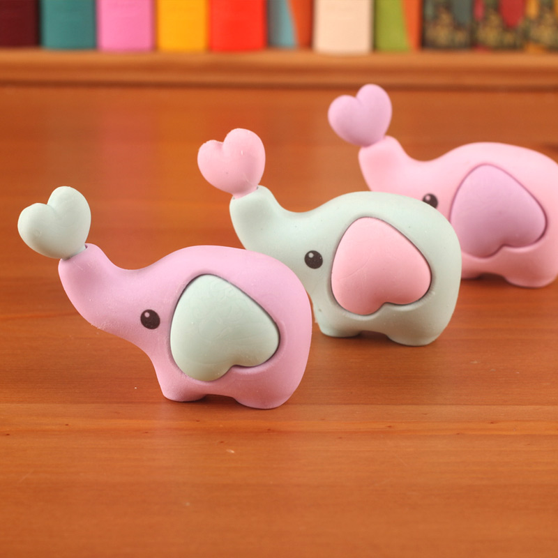 Angel zimu stationery cute three-dimensional cartoon eraser rubber eraser cute elephant elephant