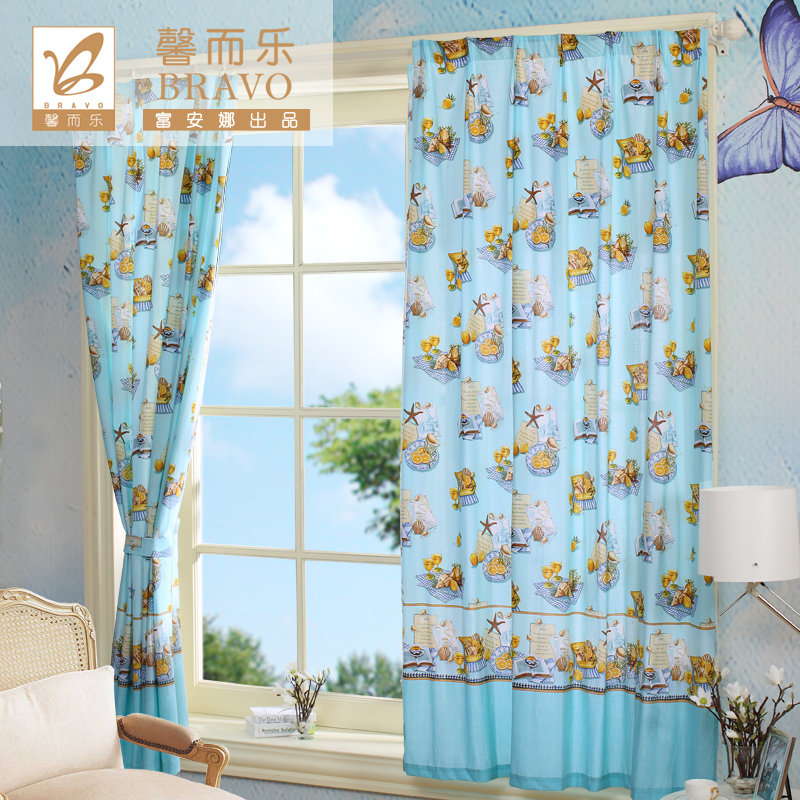 Anna fu xin and music textile curtains pastoral style home korean version of the same paragraph suite bedroom living room blackout curtains